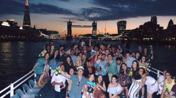 All aboard! Last year's London Swans Boat Party was our biggest ever as 200 people partied the night away on the hottest day of the year in London.
